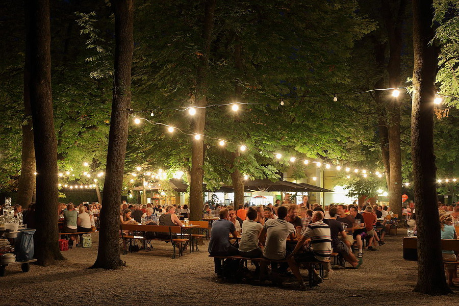 Beergarden at Night, Germany