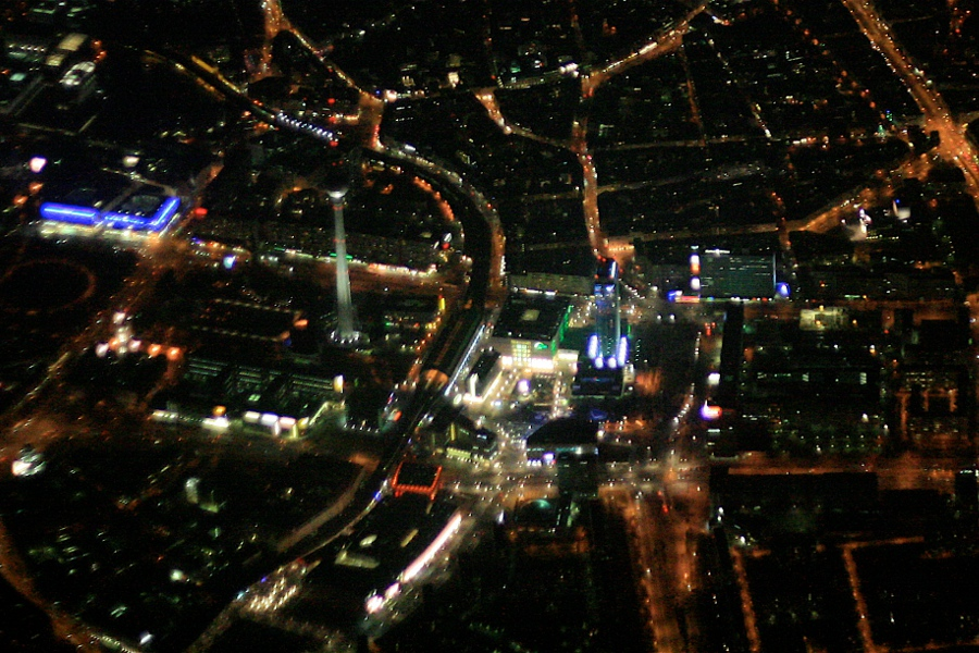 Berlin TV Tower, Alexanderplatz at Night, Germany