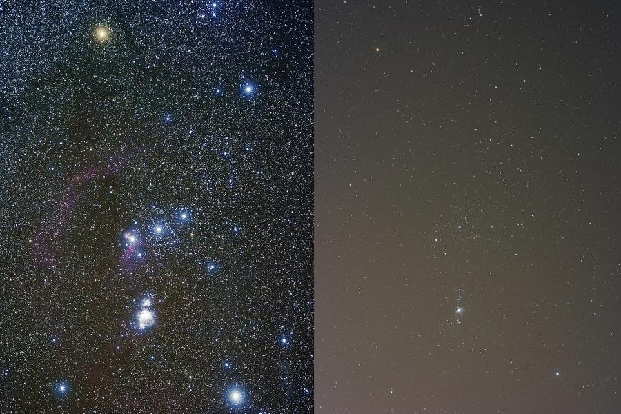 Pristine Night Sky versus Urban Night Sky