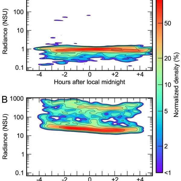 Pub worldwide variation in skyglow